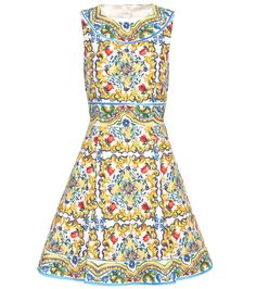 Dolce & Gabbana Floral-print cotton-blend brocade mini dress found on  Polyvore | Top Fashion Products | Pinterest | Printed cotton, Mini dresses  and Dress ...