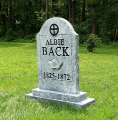 Albie Back Silly Halloween Tombstone Prop Halloween Outside, Halloween Graveyard, Halloween Tombstones, Outdoor Halloween, Halloween House, Holidays Halloween, Scary Halloween, Halloween Party, Halloween Projects