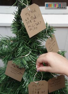 Creating a Family Wishing Tree - Helping Kids to Learn to Think about Others this Season (sponsored) Christmas Makes, 12 Days Of Christmas, Christmas Wishes, Christmas Holidays, Christmas Ornaments, Christmas Activities, Christmas Traditions, Create A Family Tree, Happy Holidays