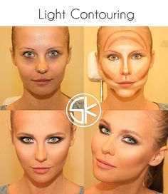 Contouring tutorials - these before and afters are insane. Obviously I need to learn how to do this. ;))