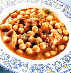 Potaje de garbanzos con pulpo #cuisine #recipes