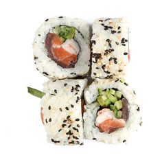 Uramaki Triple Taste @77sushi Sashimi, Feta, Cheese, Ethnic Recipes