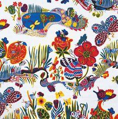 Josef Frank, textil Butterfly, 1943-45