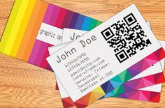 Freebie: Colorful Business Card - Land-of-Web