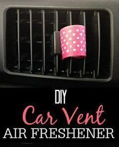 Tired of a smelly car? Try this simple DIY Car Vent Air Freshener. You can use your favorite essential oils to make your car smell great.