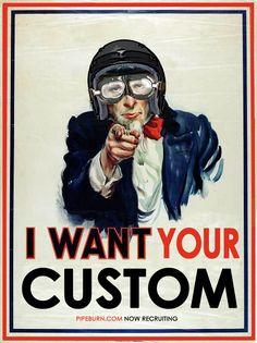 Custom MotorcyclesWanted - Pipeburn - Purveyors of Classic Motorcycles, Cafe Racers & Custom motorbikes