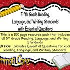 This is perfect for posting standards and E.Q.'s in your 5th grade Reading, Language, and Writing Classroom!    Every standard is included in all 3 ...