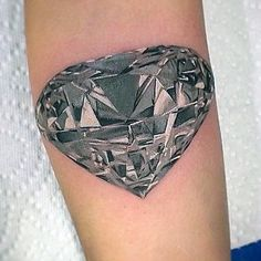 3d Realistic Mens Small Diamond Forearm Tattoo