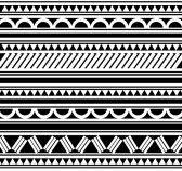 Maori   Polynesian Style tattoo  bracelet stock photography