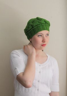 WINTER SALE...Green cable hat ready to shipping. by beyazdukkan, $19.90