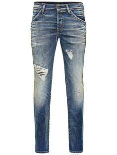 Jeans Intelligence - Slim-Fit-Jeans von JEANS INTELLIGENCE - Low rise - Schmale Oberschenkelform - Schmaler Beinabschluss - Eingriff mit Knopfverschluss - Eingrifftaschen - Entworfen und gewaschen in Italien - Das Modell trägt Größe 32/32 und ist 187 cm groß 98% Baumwolle, 2% Elasthan...