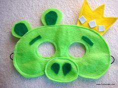 King pig felt mask, $12