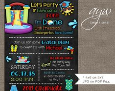 Water play graduation party invitation for a high school graduation or college graduation party. Boy Printable, Printable Invitations, Party Printables, Baby Sprinkle Invitations, Baby Shower Invitations For Boys, College Graduation Parties, Graduation Party Invitations, Water Play, Have Some Fun