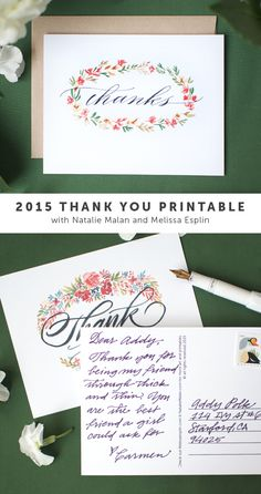 I Still Love You by Melissa Esplin: Printable: 2015 Thank You Cards