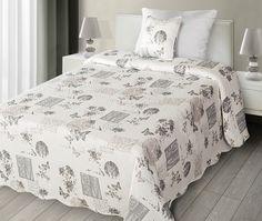 Narzuta w kolorze białym na łóżko w stylu vintage