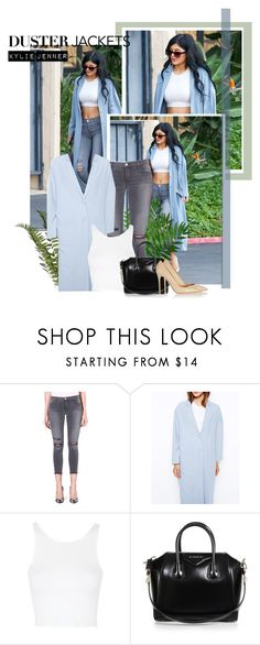 """""""Duster Jacket: Kylie Jenner"""" by beg1214 ❤ liked on Polyvore featuring ASOS, J Brand, Topshop, Givenchy and Gianvito Rossi"""
