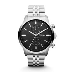 Townsman Chronograph Stainless Steel Watch FS4784 | FOSSIL®- Another one for B