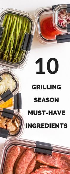 An absolute must-have grilling ingredients list! ad #OrganizeWithBrilliance