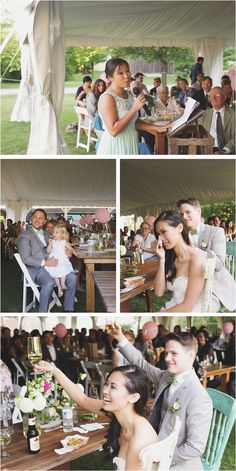 Zurry + Brendan's DIY Markham Museum wedding was full of adorable crafts and fun summer vibes. Museum Wedding, Summer Vibes, Wedding Venues, Table Decorations, Fun, Wedding Reception Venues, Wedding Places, Wedding Locations, Dinner Table Decorations