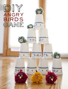 DIY Angry Birds Game - Use with homemade catapult.