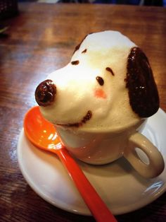 Snoopy 3D Latte Art