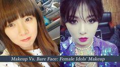 [POLL] Makeup Vs. Bare Face: Female Idols' Makeup | http://www.allkpop.com/article/2014/11/poll-makeup-vs-bare-face-female-idols-makeup