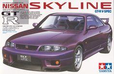 Nissan Skyline GT-R V-Spec Model Car Tamiya - funny email Tamiya Model Kits, Tamiya Models, Model Cars Kits, Nissan Gtr Skyline, Nissan 370z, Plastic Model Kits, Plastic Models, Cars Series, Japan Cars