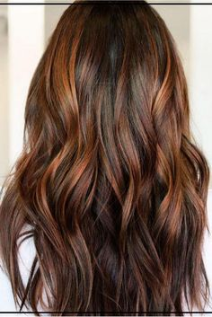 Trendy Hair Color Highlights : Cinnamon Brown with Golden Auburn Balayage Hair Color Auburn, Hair Color Highlights, Ombre Hair Color, Brown Hair Colors, Balayage Highlights, Brown Hair Copper Highlights, Brunette With Caramel Highlights, Golden Highlights Brown Hair, Chestnut Highlights