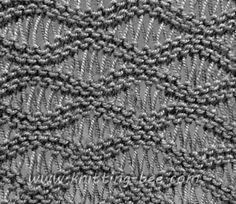 Free Seafoam Stitch Knitting Pattern Abbreviations: k= knit p= purl yo = yarn over Cast on multiple of 10 plus 6 Row 1:k Row 2:k Row 3 :(right side of work): k6, * (yo) twice, k1, (yo) 3 times, k1, (yo) 4 times, k1, (yo) 3 times, k1, (yo) twice, k6, rep. from * Row…