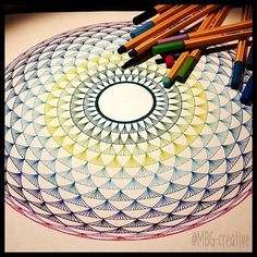 Specially for you... I draw this colorful geometric eye Enjoy your weekend!!