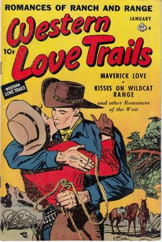 Comic Book Cover For Western Love Trails 08 (1950)