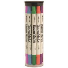 Ranger Tim Holtz Distress Marker Tube Set, 2 by 7.35-Inch, 12-Pack Ranger