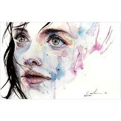 Aquarelle en speed-painting ❤ liked on Polyvore