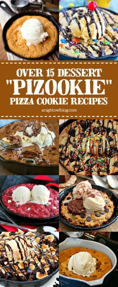 """The perfect dessert for two, try one of these delicious pizza cookie, skillet cookie - Pizookie Recipes! Delicious Pizookie Recipes The perfect dessert for two, try one of these delicious """"Pizookie"""" Pizza Cookie recipes! Cookie Desserts, Just Desserts, Cookie Recipes, Delicious Desserts, Dessert Recipes, Cookie Pizza, Pizza Cookies, Pizza, Kitchens"""