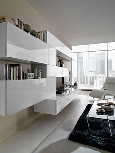 25 design living room ideas by NORD-ISERE Decoration Living Room Decoration - Living Room Built Ins, Living Room Wall Units, Home Living Room, Living Room Designs, Living Room Decor, Room Furniture Design, Living Room Furniture, Furniture Nyc, Furniture Movers