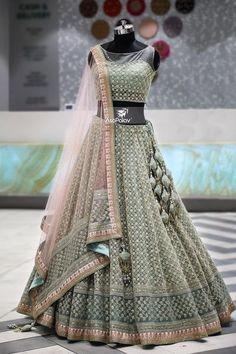 lehnga dress MahaRani Couture - WhatsApp 918320238260 - Source by tivanshee - Indian Wedding Gowns, Indian Bridal Outfits, Indian Gowns Dresses, Indian Bridal Lehenga, Indian Designer Outfits, Wedding Hijab, Dresses Dresses, Gown Wedding, Fashion Dresses