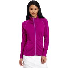 adidas Golf Women's Contrast Stitched Full-zip Training Top * Continue to the product at the image link. (This is an affiliate link) #Shirts