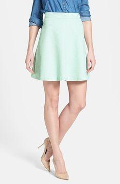 $69, Mint Skater Skirt: Halogen Skater Skirt. Sold by Nordstrom. Click for more info: https://lookastic.com/women/shop_items/55227/redirect