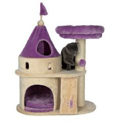 Cat Castle – Trixie My Kitty Darling Including Scratching Post & Den Tommy won't mind if it's purple!