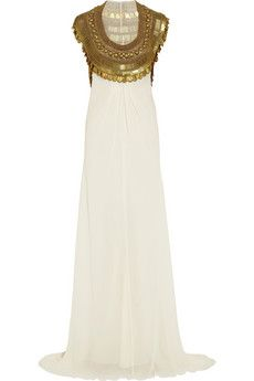 My inner Cleopatra loves this: Temperley London Goddess embellished silk-chiffon gown   NET-A-PORTER // Empress Of Style