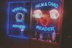 Neon signs and psychic vibes