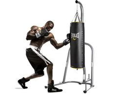 Punching Bag Stand Everlast Speed Boxing Dual Station For Heavy Bags Home Gym #Everlast
