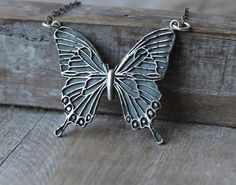 Large Butterfly fine silver pendant sterling silver necklace by ALMrozarka on Etsy Silver Pendants, Sterling Silver Necklaces, Silver Jewelry, Largest Butterfly, Silver Charms, Arrow Necklace, Handmade Jewelry, Pure Products, History
