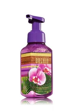 Amazon Rainforest Orchid - Gentle Foaming Hand Soap - Bath & Body Works - Our Gentle Foaming Hand Soap delivers a cloud of luxurious foam that transforms into a rich, creamy lather to gently wash away dirt and germs, while soothing Aloe and nourishing Vitamin E leave hands feeling soft, smooth and lightly scented!