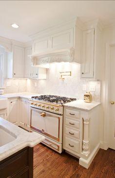 "White Kitchen Cabinet Paint Color: ""Benjamin Moore Cloud White 967″."