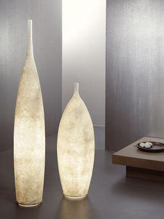 contemporary polycarbonate floor lamp TANK WHITE in-es artdesign Unique Floor Lamps, Contemporary Floor Lamps, Candle Lamp, Candleholders, Candles, Kartell, Shades Of Beige, Modern Lighting, Lighting Ideas