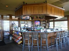Have a Fuzzy and Vodka after your round of golf. Covered Bridges, Golf Clubs, Vodka, Bar, Furniture, Design, Home Decor, Decoration Home, Covered Decks