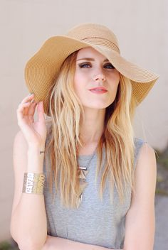 Beachy waves and summer vibes from 'Love, Blair' in this UO sun hat. #urbanoutfitters