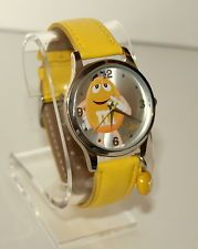 M&M's Yellow Chocolate Covered Candy Watch Mars Advertising Unused New NOS 2013