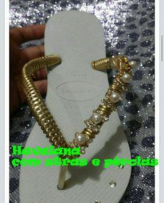 94ae26e2a5a5b5 HAVAIANA ELEGANTE. HavaianasCustom Flip FlopsHandmade Crafts
